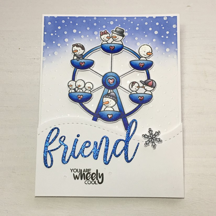 create a smile challenge-winter time card 1