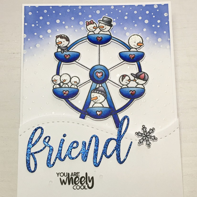 create a smile challenge-winter time card 2
