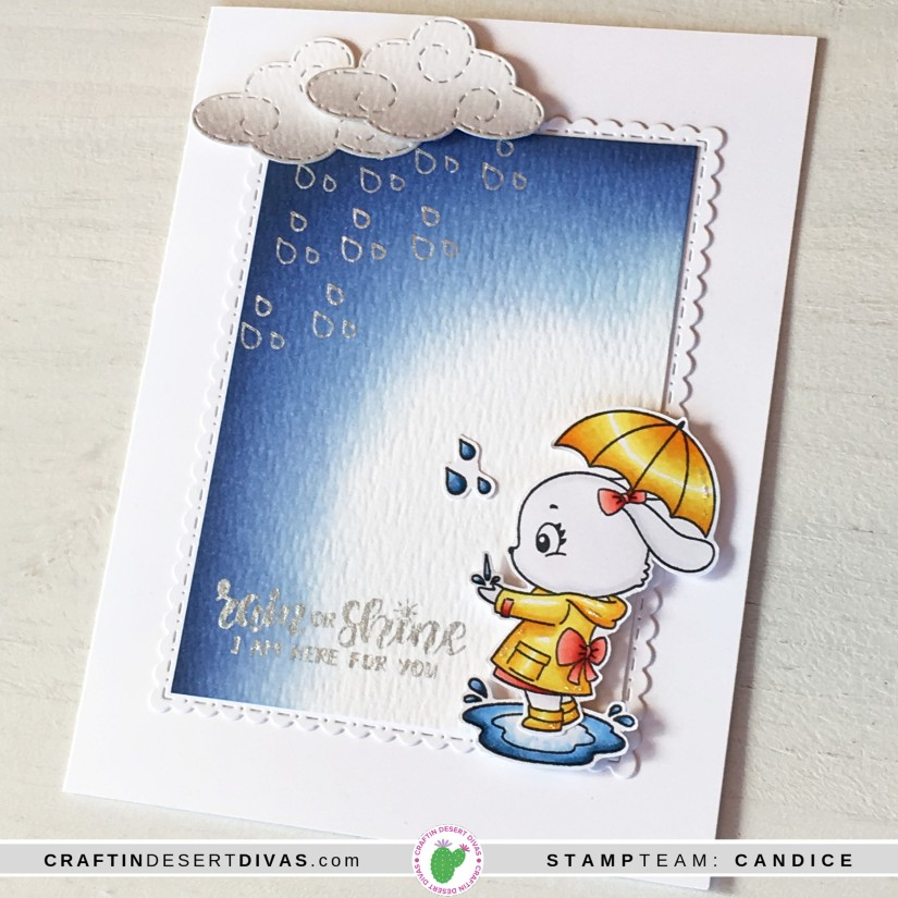 CDD march release rainy days card 1 up close