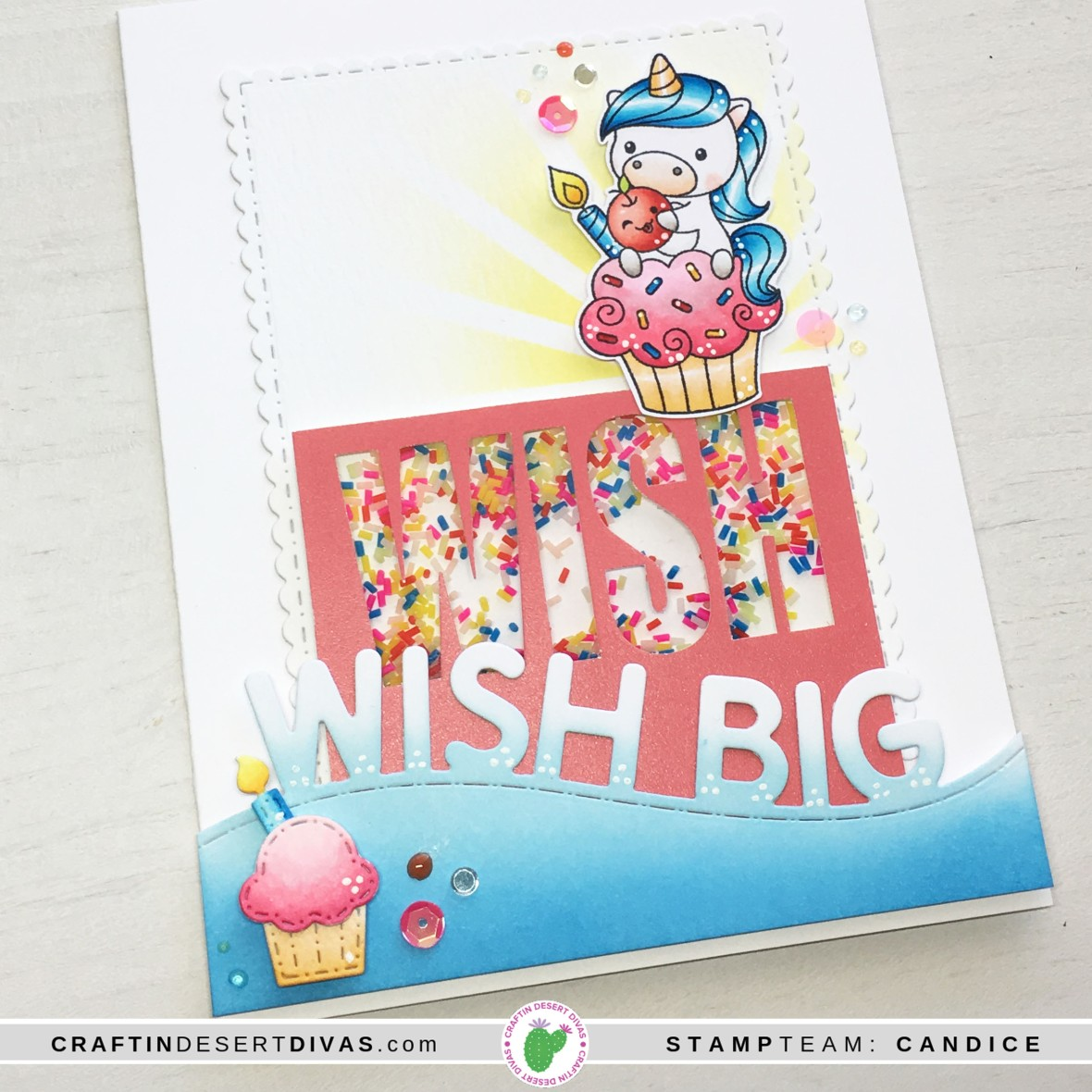 CDD april release cake tester card 2 close up