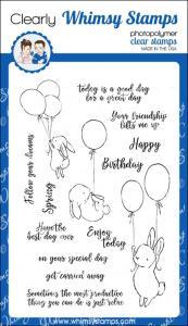 bunny balloons stamp set