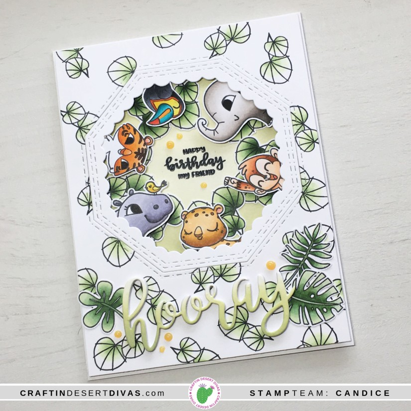 CDD May release Jungle Friends card 2 side
