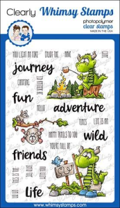 WS camping dragons stamp set