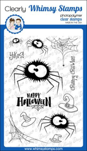 WS fuzzy spiders stamp set