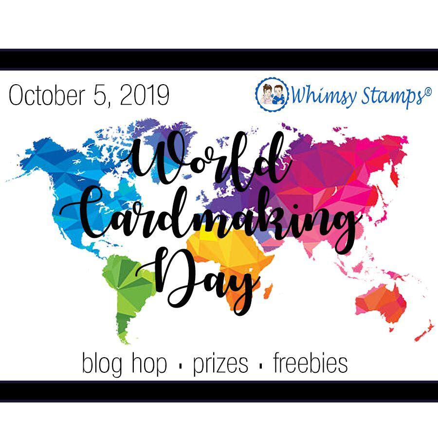 World card making day blog hop badge