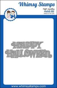 WS happy halloween word die