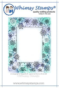 WS snowflake frame rubber stamp