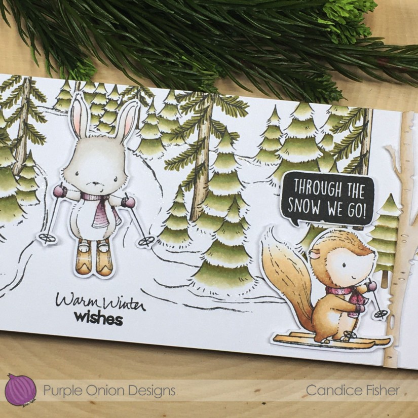 Candice-Through the snow winter trail with Ember, Blaze & Maggie close up