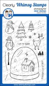 WS glitter globe stamp set