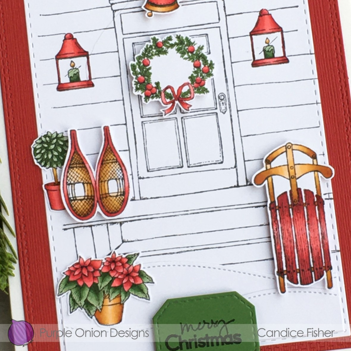 Candice Fisher-front door, door decor #1, winter sports close up