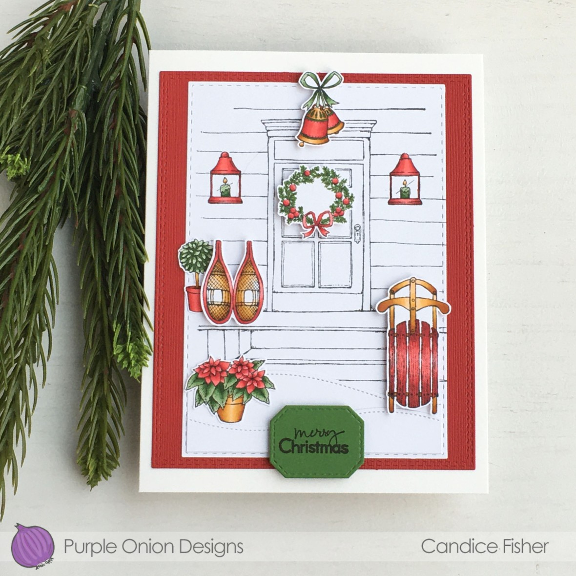 Candice Fisher-front door, door decor #1, winter sports